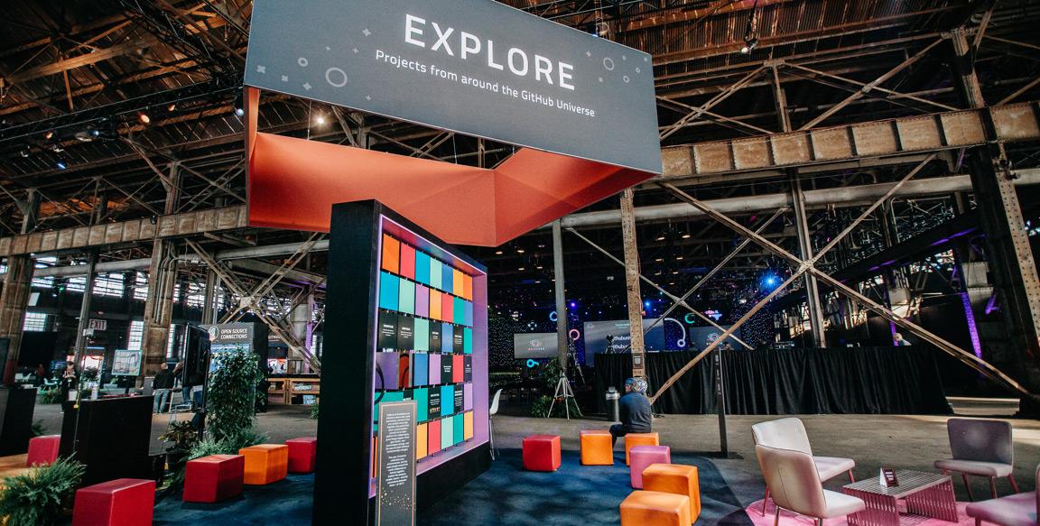 GitHub Universe explore lounge