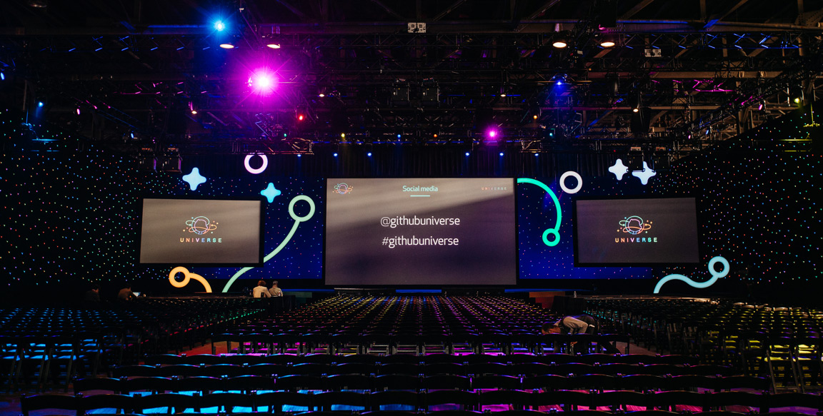GitHub Universe mainstage