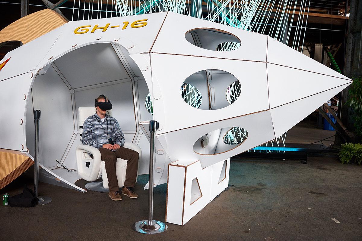 Vitual Reality rocket