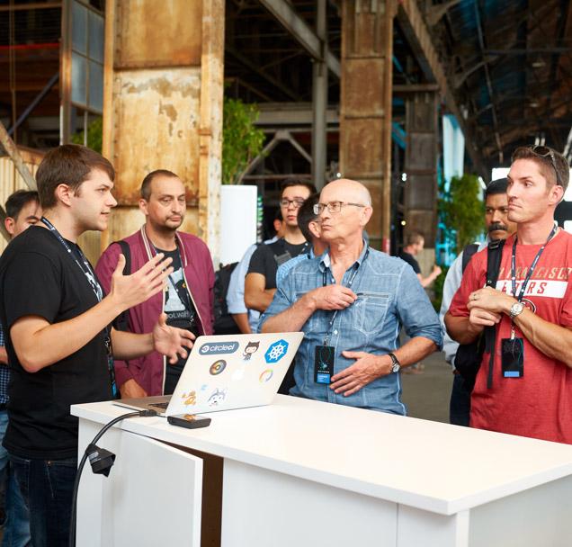 GitMerge mainstage, large crowd